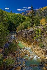 Lake Creek: an Emerald Gem (Fort Photo) Tags: lakecreek co colorado lakecounty nature landscape fall autumn emerald gold yellow river stream water travel aspen creek vertical