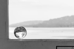23/365 (misa_metz) Tags: nikon nature naturephotography photo photography blackandwhite black bw white balaton ball lensball winter ice sigma tree art minimal hungary snow outdoor