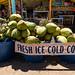 Fresh ice cold Coconuts in Waimea Hawaii