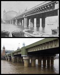 Cannon Street Railway Bridge (Tetramesh) Tags: tetramesh london england britain greatbritain gb unitedkingdom uk localhistory nowandthen thenandnow pastandpresent oldlondon lostlondon presentandpast londonpastandpresent londonnowandthen londonthenandnow londonpast socialhistory uklocalhistory londonlocalhistory transporthistory londonstransportpastandpresent londonstransportnowandthen londonstransportthenandnow britishrailways britishrail networksoutheast railtrack networkrail cannonstreetrailwaybridge cannonstreet railwaybridge southeasternrailway riverthames johnhawkshaw johnwolfebarry londonchathamanddoverrailway londoncannonstreet cityoflondon londonboroughofsouthwark ec4 se1 river thames