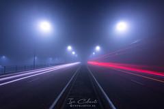 La Leyenda (Iván Calamonte) Tags: mérida extremadura fotoludica spain night fog mist niebla noche nocturna bruma dark lightpainting light longexposure way legend santa eulalia martir