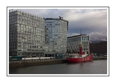 The Bar in the Docks (Audrey A Jackson) Tags: canon60d liverpool docks ship bar buildings architecture water reflections windows clouds sky