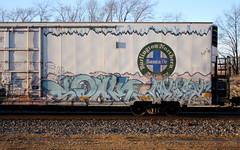 Spok/Myst (quiet-silence) Tags: graffiti graff freight fr8 train railroad railcar art spok myst pos ant allnation etc bnsf icicle reefer