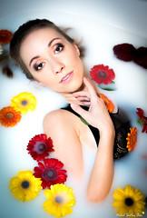 Laetitia (Mickael Shooting Stars) Tags: modele mannequin portrait bain lait flash d750 mode lingerie fleur