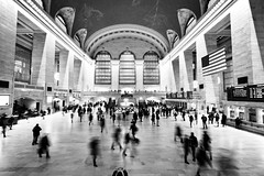 Photographic Cliches (Creekside Photog) Tags: grandcentral newyork blackandwhite movement nyc iphone