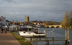 Henley-On-Thames (THE NUTTY PHOTOGRAPHER) Tags: riverthames boats henley regatta birds churches clouds moorings