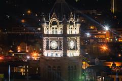 On a Warm Summer Night (Thomas Hawk) Tags: america cityandcountybuilding saltlakecity usa unitedstatesofamerica unitedstates utah architecture clock fav10 fav25