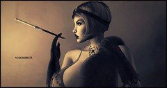 Too Glam To Give A Damn (Moxxie Kalinakova) Tags: retro vintage beauty vamp flapper smoking moxxie kalinakova sepia