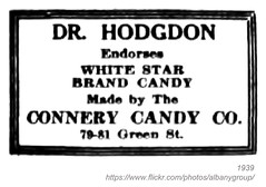 1939 connery candy company (albany group archive) Tags: albany ny history 1939 connery candy company white star green street doctor hodgdon 1930s 7981 dr old vintage photos picture photo photograph historic historical