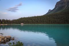The Boat House on Lake Louise (Samantha Decker) Tags: ab alberta banffnationalpark canada canadianrockies canonef24105mmf4lisusm canoneos6d lakelouise parkscanada rockymountains samanthadecker boathouse