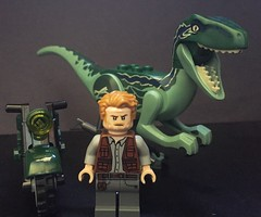 Owen and Blue (PlutoGator) Tags: lego jurassic world park owen grady blue velociraptor raptor chris pratt