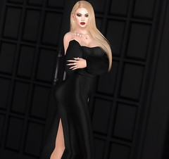 Mistress of The Night (EnviouSLAY) Tags: dress blonde blond black maxi makeup eyeshadow lipstick nails jewelry necklace rings newreleases new releases doux letre rowne momoko ascendant kibitz eyebrows colivatibeauty colivati beauty genus classic belleza bento freya belle kustom9 kustom 9 monthlyevent monthlyfair monthlyfashion monthly fashion fair event red stone pale female male gay blogger lgbt secondlife second life photography