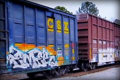 (timetomakethepasta) Tags: emer end uti freight train graffiti art csx csxt boxcar