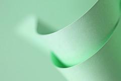 Minimalistic green (eleni m) Tags: macromondays green macro hmm minimalism paper dof curves simplism abstract