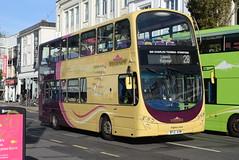 BH 437 @ Churchill Square, Brighton (ianjpoole) Tags: brighton hove volvo b9tl wright eclipse gemini bf12kxm 437 working route 28 churchill square kings academy ringmer