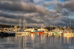Concarneau (Mirarmor) Tags: port bateaux ciel eau mer nuages bretagne france mats reflets littoral paysage lumière