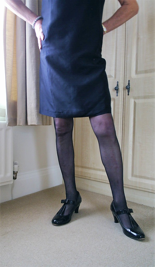 Little black dress (Chrissie Cummings Vol 1) Tags: transvestite  crossdresser stockings nylons suspenders