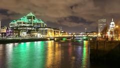 Dublin lights on the Liffey. (Darren Kearns) Tags: ifsc customhouse riverliffey river clouds colors love beautiful longexposure cityscapes cityshots liffey ireland irish canon photography dublin lights