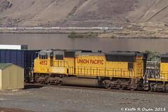 UP 4852 (SD70M) (youngwarrior) Tags: oregon biggs up unionpacific manifest train columbiariver emd sd70m locomotive