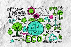 doodles ECO idea on crumpled paper (www.icon0.com) Tags: bicycle bulb children clear clip clipart collection color concept crumpled design doodle drawing earth eco ecology element energy environment environmental graphic grass green icon idea illustration industry inscription natural nature nuclear paper pencil plant pollution power rainbow recycling shape sketch squared style symbol trash tree white wind
