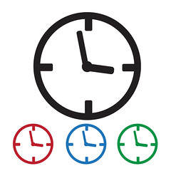 Clock Icon (www.icon0.com) Tags: clock icon time vector line flat late business modern wall round design sport counter countdown hour isolated timer concept sign symbol period ticking second circle graphic interval element minute chronometer pointer simple dial shape illustration object face watch speed painting long alarm style deadline image single office clockwise numeral button