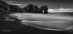 Low Quay (http://www.richardfoxphotography.com) Tags: durdledoor beach southwestcoastpath dorset panorama monocrhome blackandwhite surf sea coast coastal coastline sunrise bluehour water stormy
