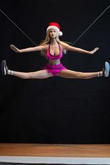 2018 Phicen/TBLeague Advent Calendar - Cheerleader Outtake (edwicks_toybox) Tags: 16scale firegirl tbleague blonde cheerleader femaleactionfigure phicen santahat seamlessbody verycool
