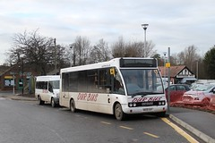 Our Bus MX58 AAY 1230hrs Wroxham to Cantley & AV08 YHZ 1240hrs Wroxham to Tunstead 150119 (return2layerroad) Tags: ourbus ourhire wroxham cantley tunstead optaresolo mx58aay fordtransit av08yhz norfolk