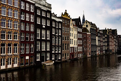 •Amsterdam Houses• (virginiasánchez) Tags: houses amsterdam holland holanda casas water agua canals canaal canal europe europa beautiful reflection cloudy