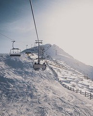 The Monday Commute (samanthasearle1) Tags: adobe lightroom view landscape 18 50mm 6dmarkii 6d canon goldenhour sunset sun evening mountains snow snowboard gondola chairlift skilift skiing ski bulgaria bansko