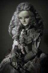 doll with the doll (dolls of milena) Tags: bjd abjd resin doll supia portrait vintage retro