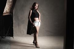 Studio shoot with Na นะ (d@mienR) Tags: portrait westcottapollo thaimodel thai canon xproc flickr smugmug photoshopcc strobist 5dii godox studio canvasbackdrop ef85mmf18usm adobe lightroomclassiccc v860ii portraiture canoneos5dmarkii ad200 sigma50mmf14