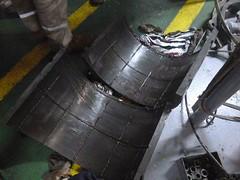 Resize of P1360515 (OpalStream) Tags: rudder marine vessel repair works overhauling workshop measurements filler gauge dirt
