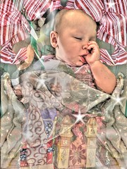 3 Dream sleeping (Jen's Photography) Tags: thumbsucking sleep sleeping pastel patterns stripes decorations stars hdr highdynamicrange qtpfsgui christmas holiday xmas manipulated texture layer child jensphotography austintexas austin texas city urban centraltexas atx capitol austintexascapitol capitoloftexas texascapitol austinphotography austintexasphotography portrait grandchild family december 2018 iphone cellphone iphone6s female girl baby infant
