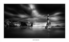 The Sound Of Silence ... (michel di Méglio) Tags: marseille monochrome bw sea mer lighthouse falaise