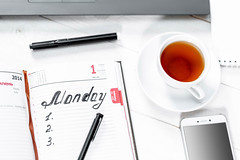 Work diary, tea Cup and phone (wuestenigel) Tags: note smart concept table space background modern desktop designer eyeglasses technology pen workplace design creative internet white view flat education keyboard notebook business office tea computer laptop work blank cup phone notepad pencil book top mobile object desk glasses paper tabletop diary
