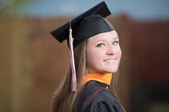 2017_04-Amanda-Grad 2195 (Jeremy Herring) Tags: cap girl gown graduate graduation individuals outdoor photography photos portrait schreineruniversity woman