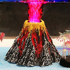 Aquarium Volcano Decor Kit With Air Stone Bubbler (mywowstuff) Tags: gifts gadgets cool family friends funny shopping men women kids home