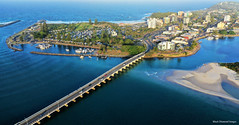 Wallis Lake Bridge, Forster Boat Harbour, Main Beach and Town Centre, Forster, Mid North Coast, NSW (Black Diamond Images) Tags: djimavicpro2 djimavic2pro mavic2prodrone mavic2pro drone aerialview aerialphoto aerialphotography nsw greatlakesnsw midnorthcoast barringtoncoast wallislake bwimages australianbeaches beach water hasselbladl1d20c sydneysandspit forster breckenridgechannel tree city sky bay sea building landscape boat forsterboatharbour pilothill wallislakebridge forstertowncentre forstertuncurrybreakwalls sandspit ocean