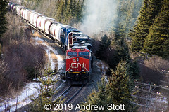 Smoke Show (awstott) Tags: es44ac 2037 c408 c408w canadiannationalrailway alberta 2182 2029 train generalelectric gecx locomotive cn cnr 2847 ge yellowheadcounty canada ca