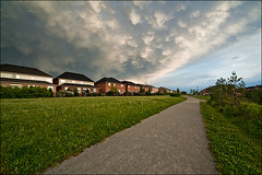 oakville_gravel-road_dark-cloud_01_8773482567_o (wvs) Tags: alley clouds home house oakville people sky street suburb toronto ontario canada can