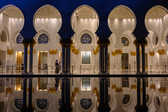 Riwaq reflections at Sheikh Zayed Grand Mosque