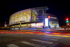 BOK Center (ezeiza) Tags: oklahoma ok tulsa bokcenter bok cesarpelli pelli architecture building arena downtown city lights night lightstream stream sign street car pickup truck vehicle automobile scooter tree ramp plaza exterior traffic signal crosswalk