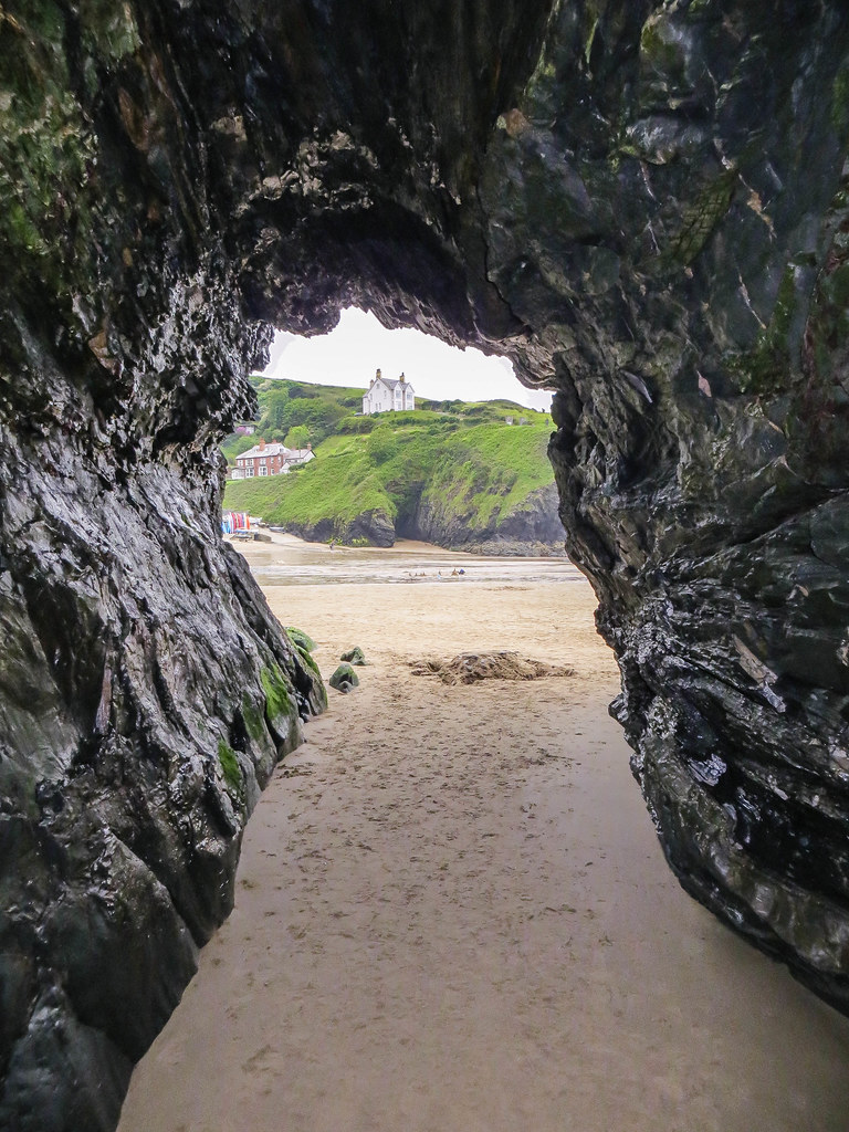 View from a cave at Llangrannog