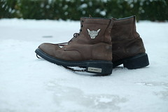 Harley Davidson Boots in winter (vysleknc) Tags: harley winter boots snow