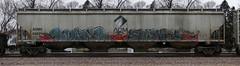 Ruinr/Fowl (quiet-silence) Tags: graffiti graff freight fr8 train railroad railcar art ruinr fowl moms lords ngc hopper adm admx admx63699