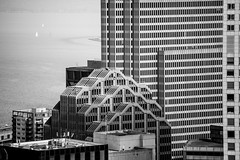 I Feel Fine (Thomas Hawk) Tags: america california embarcaderocenter financialdistrict sf sanfrancisco usa unitedstates unitedstatesofamerica architecture bw downtown fav10