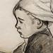 GAUGUIN,1886 - Jeune Bretonne assise (Quai Branly) - Detail 18