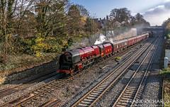 6233 | Barrow Upon Soar | 17th Nov '18 (Frank Richards Photography) Tags: duchess sutherland ealing broadway york 1z57 yule tide express steam barrow upon soar nikon november 2018 saturday 6233 lms red uk england