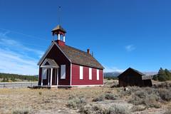Old Malta Little Red Schoolhouse - Near Leadville, Colorado (russ david) Tags: old malta little red schoolhouse leadville co colorado architecture september 2018 fall autumn